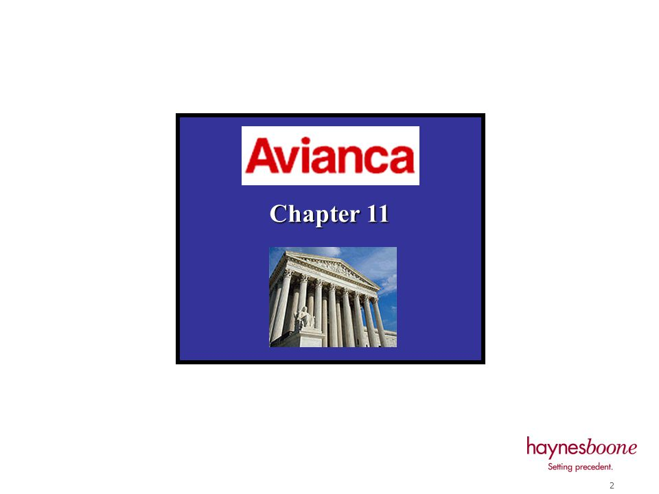 1 October 15, 2004 Houston, Texas 2004 ABA Fall Meeting International Law Section The Avianca Chapter 11 Case Larry B.