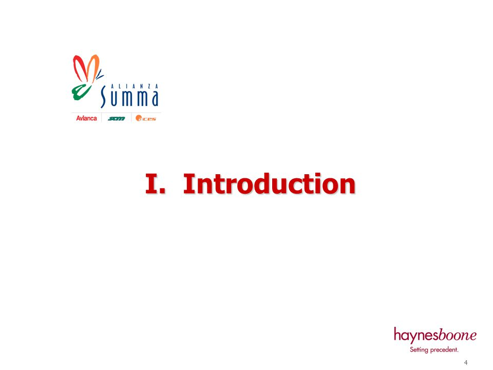 4 I. Introduction