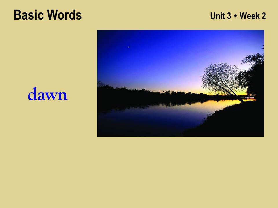 Unit 3 ● Week 2 dawn Basic Words