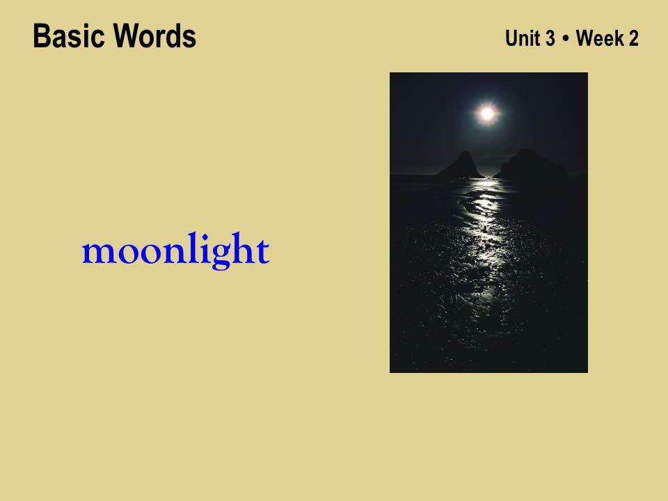 Unit 3 ● Week 2 moonlight Basic Words
