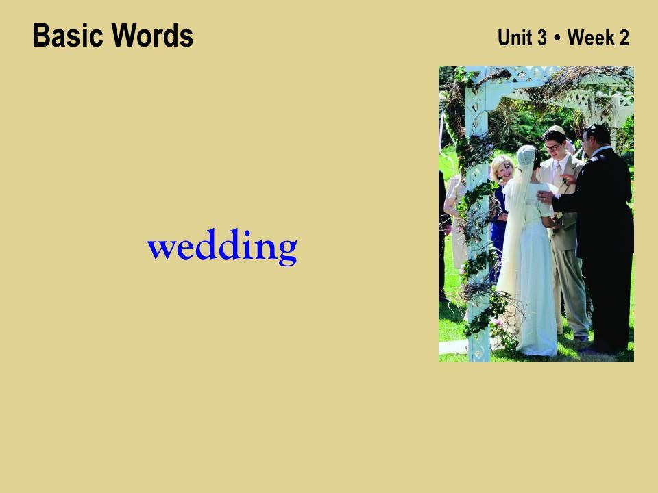 Unit 3 ● Week 2 wedding Basic Words