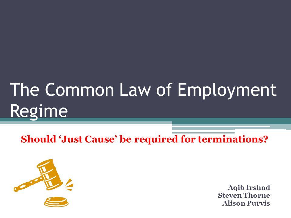 Agenda Introduction/Key Questions Legislation- Federal & Provincial Common Law Practices Termination Models Advantages and Disadvantages Debate Recommendations Conclusion