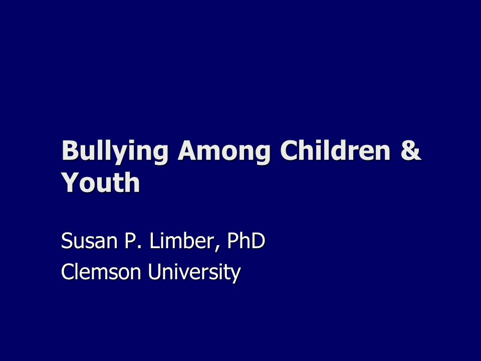 Children Who Bully are More Likely to: Get into frequent fights Get into frequent fights Be injured in a fight Be injured in a fight Steal, vandalize property Steal, vandalize property Drink alcohol Drink alcohol Smoke Smoke Be truant, drop out of school Be truant, drop out of school Report poorer academic achievement Report poorer academic achievement Perceive a negative climate at school Perceive a negative climate at school Carry a weapon Carry a weapon