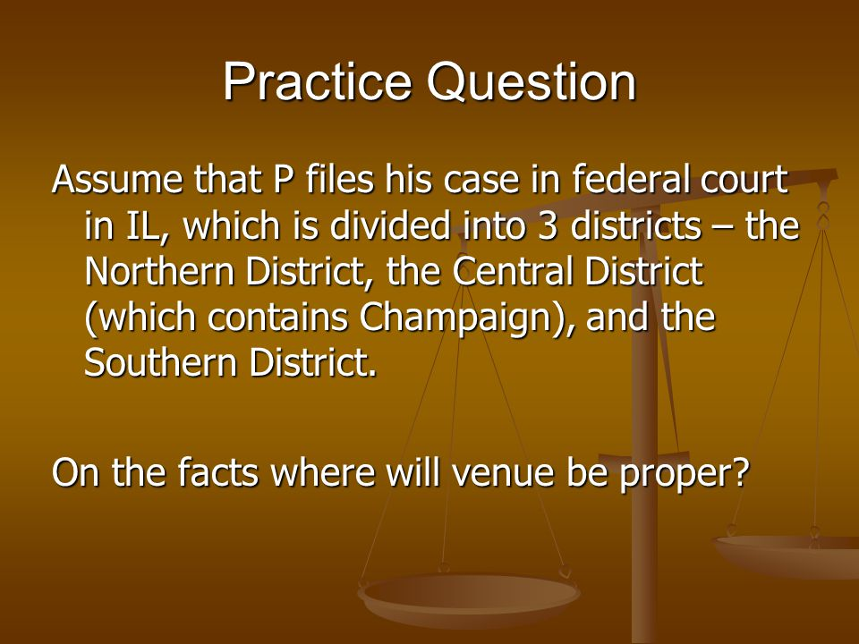 Practice Q A (MN) sues B (ND) in MN, where B owns some land, for divorce, child support, and alimony.