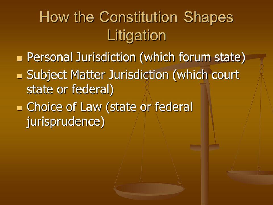 Relevant Constitutional Provisions Subject Matter Jurisdiction Subject Matter Jurisdiction Art.