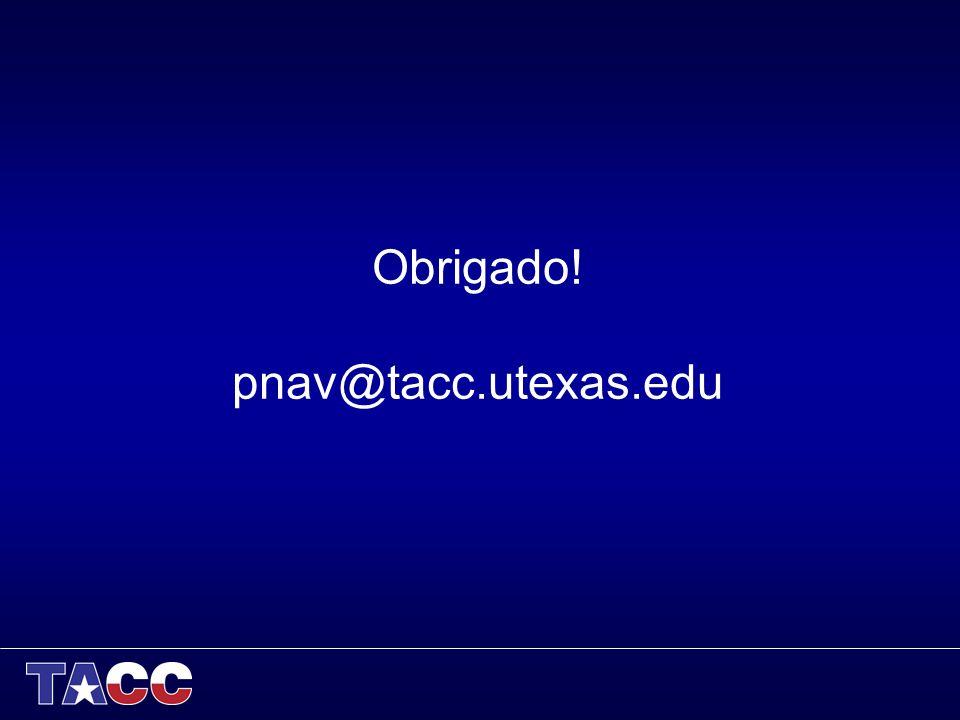 Obrigado! pnav@tacc.utexas.edu