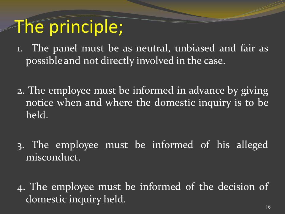 The principle; 1.
