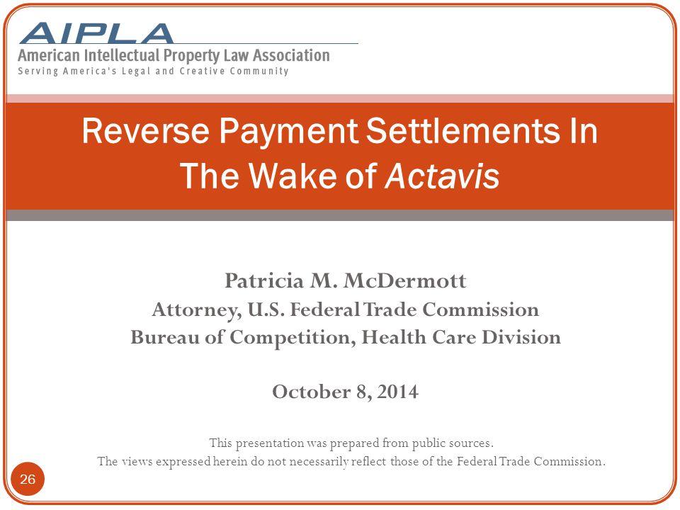 Patricia M.McDermott Attorney, U.S.