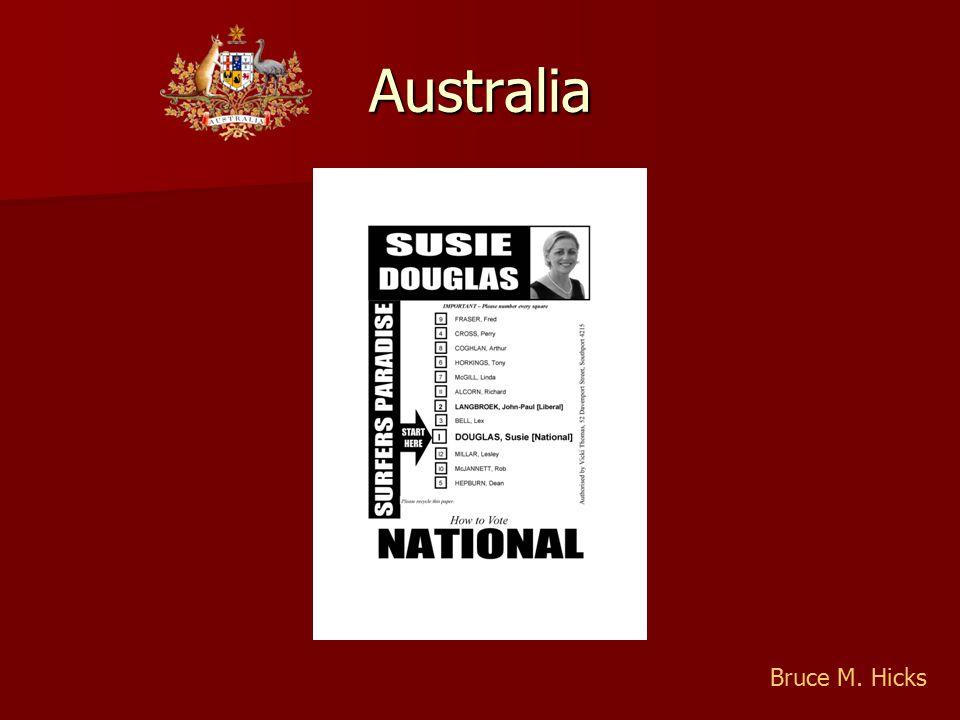 Australia Bruce M. Hicks