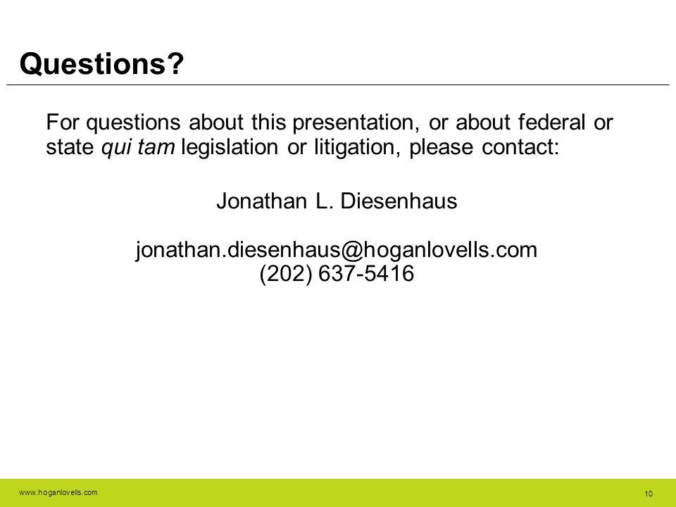 www.hoganlovells.com 10 Questions.
