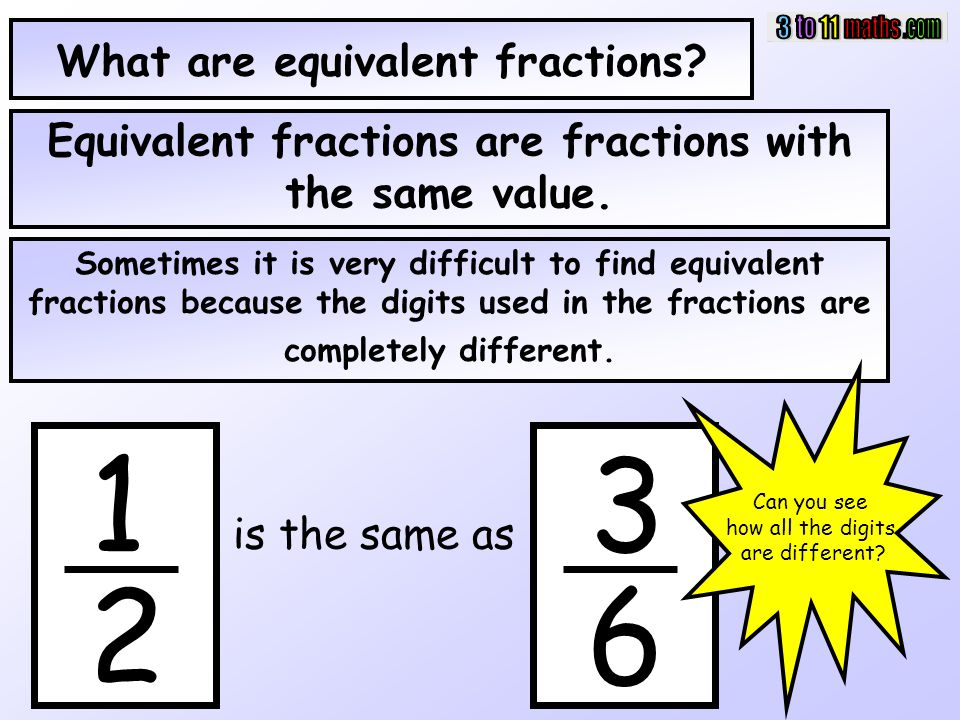 What are equivalent fractions? Equivalent fractions are fractions with the same value. Sometimes it is very difficult to find equivalent fractions bec