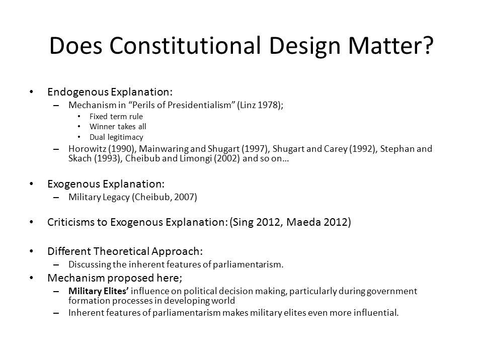 Does Constitutional Design Matter.