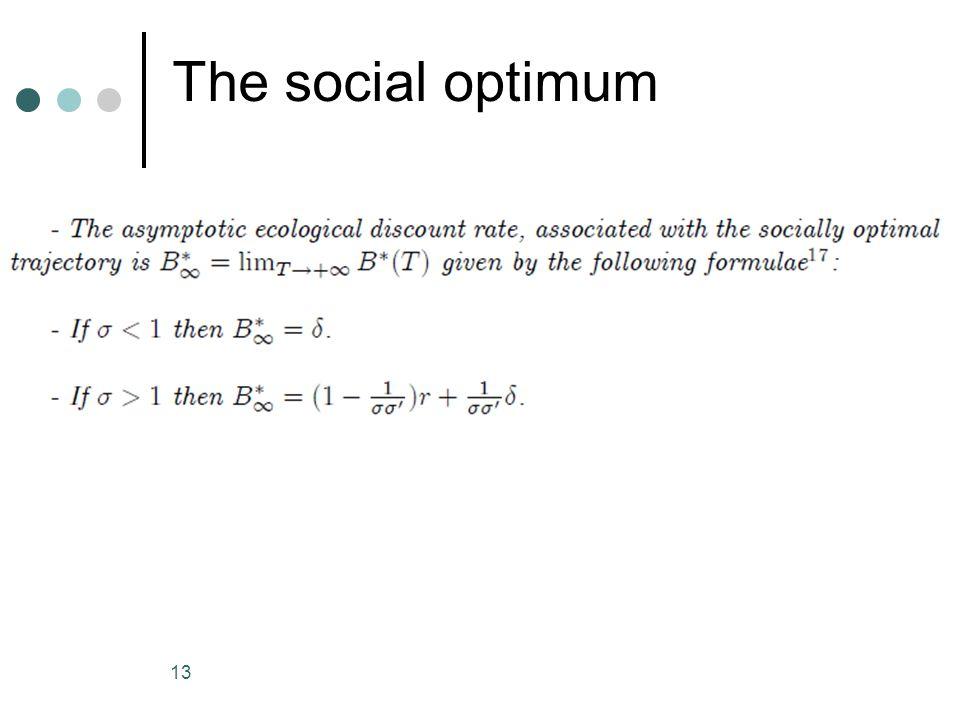 The social optimum 13