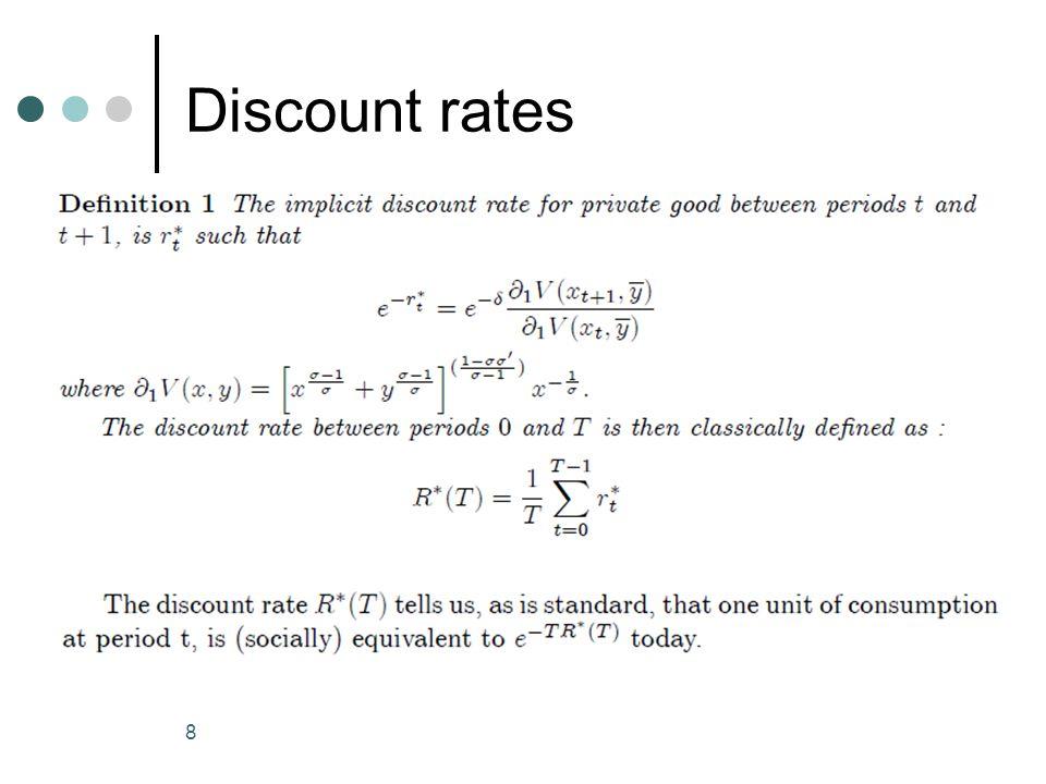 Discount rates 8