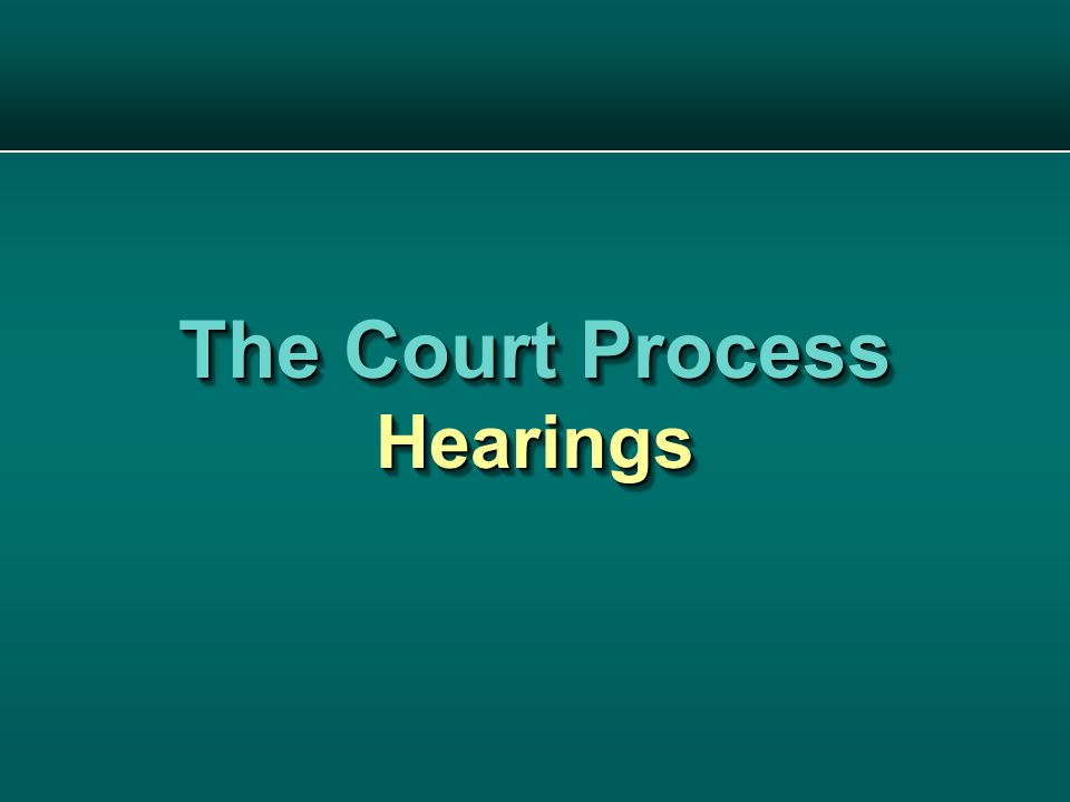 The Court Process Hearings