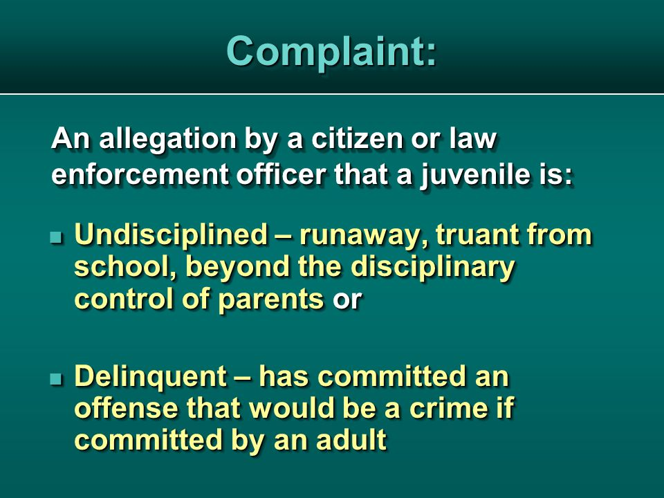 Purpose of Disposition To meet the needs of the juvenile To meet the needs of the juvenile To protect the public To protect the public To meet the needs of the juvenile To meet the needs of the juvenile To protect the public To protect the public