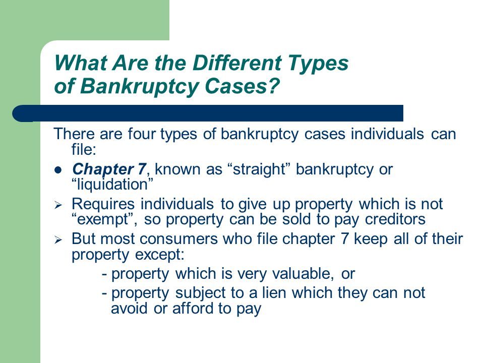 What Are the Different Types of Bankruptcy Cases.