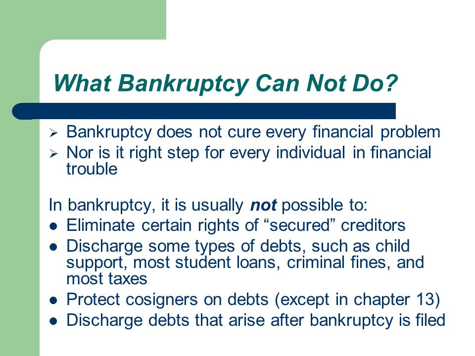What Must Be Done Before Filing Bankruptcy.