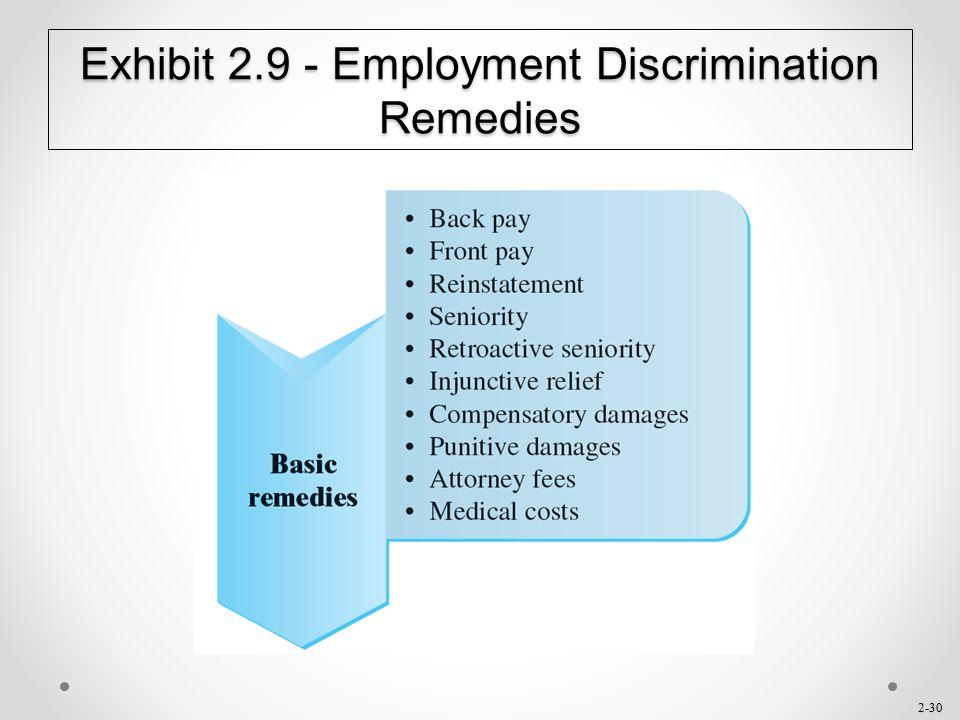 2-30 Exhibit 2.9 - Employment Discrimination Remedies