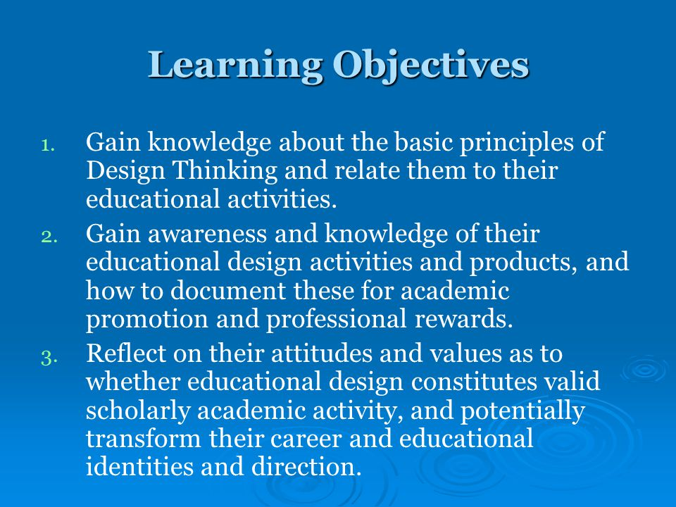 Learning Objectives 1. 1.