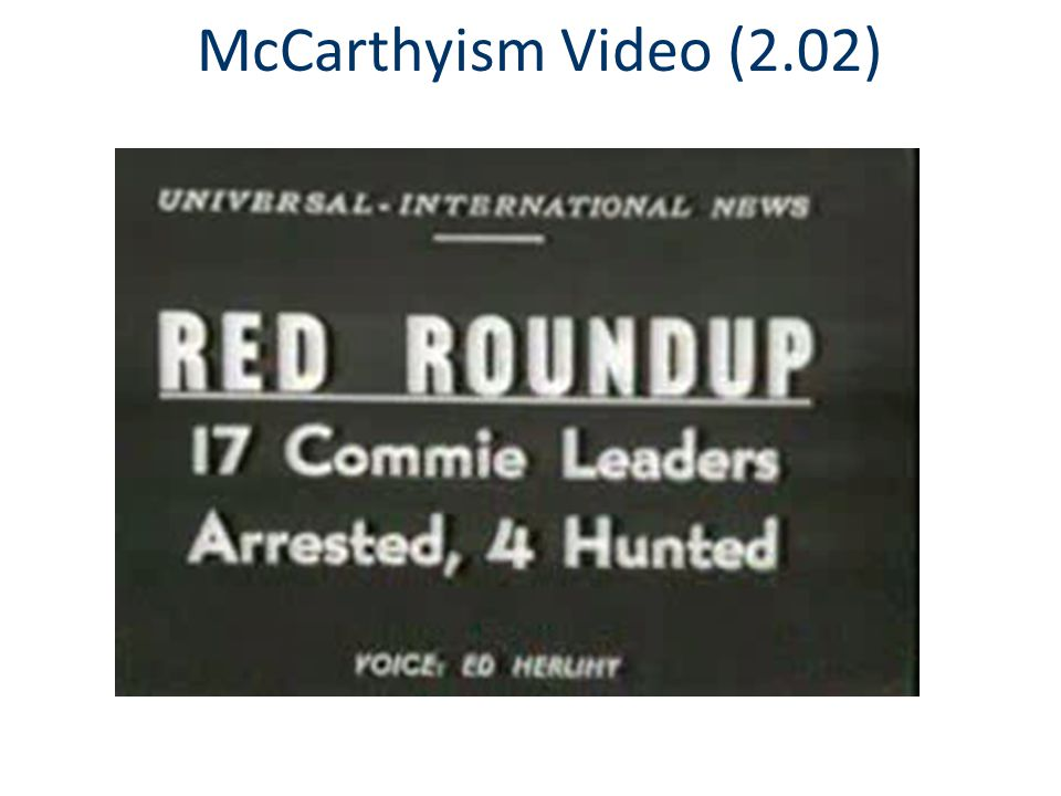 McCarthyism Video (2.02)