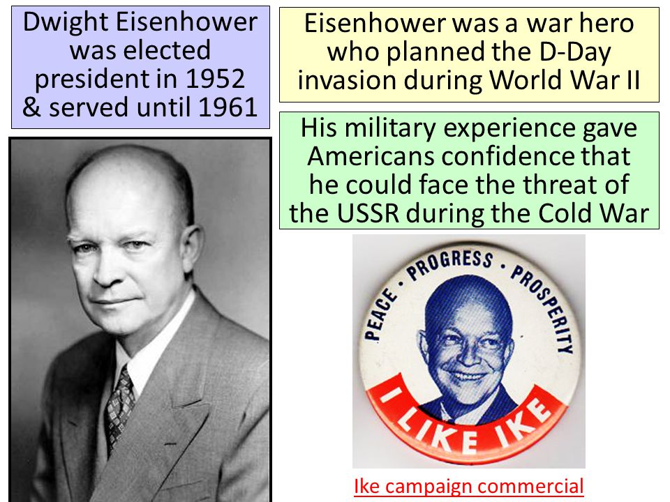 In the 1950s, President Eisenhower escalated the Cold War by using brinkmanship: threatening to use nuclear weapons & willingness to go to the brink of war If the USSR attacked a NATO member, the U.S.