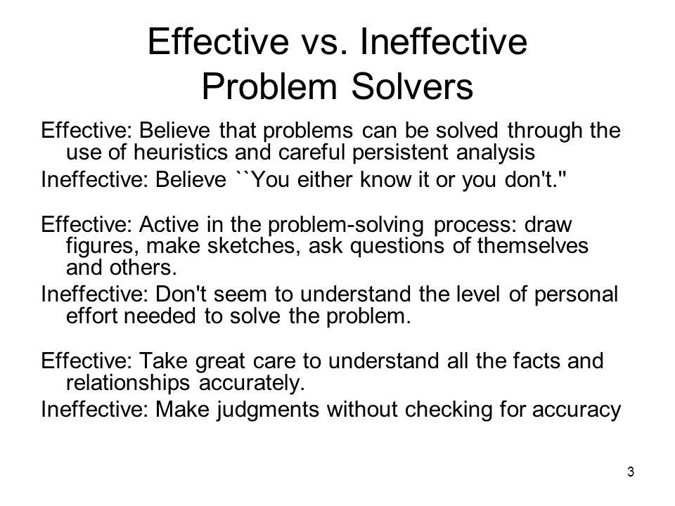 Effective vs.