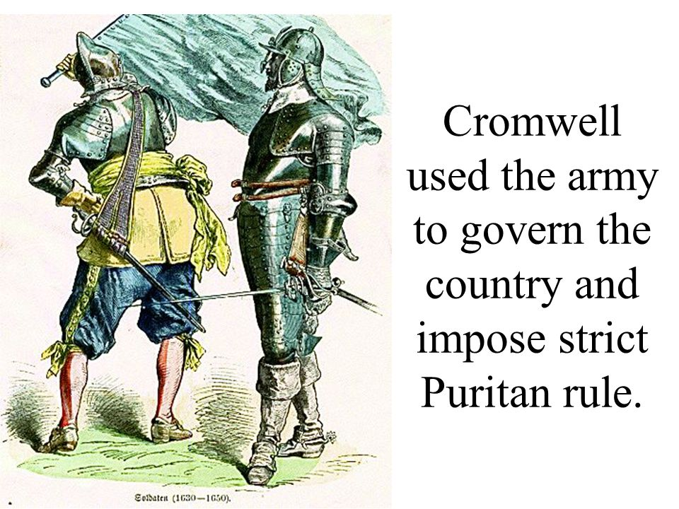 Parliament became so seriously divided that Cromwell dissolved it in 1654 and ruled England as a dictator with the title Lord Protector.