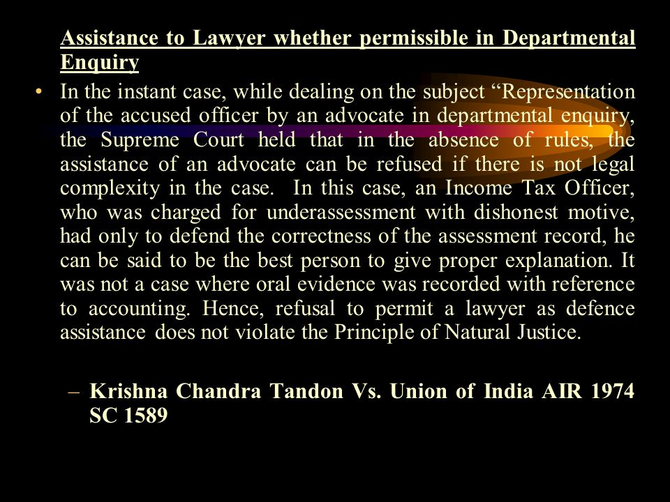 In the instant case, a copy of the document as mentioned in the charge sheet, was not supplied to the appellant and he was not permitted to inspect th