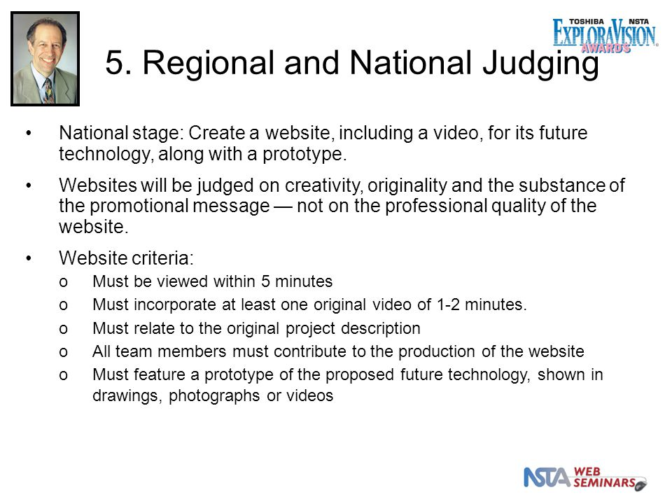 National stage: Create a website, including a video, for its future technology, along with a prototype.