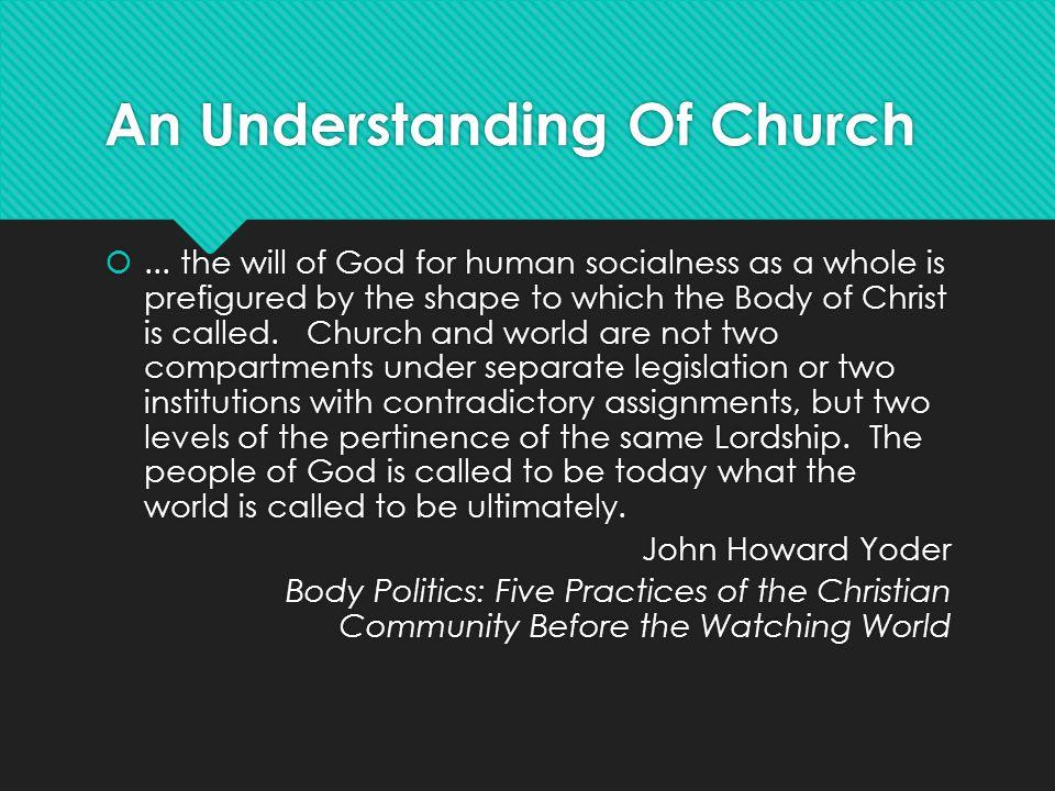 An Understanding Of Church ...