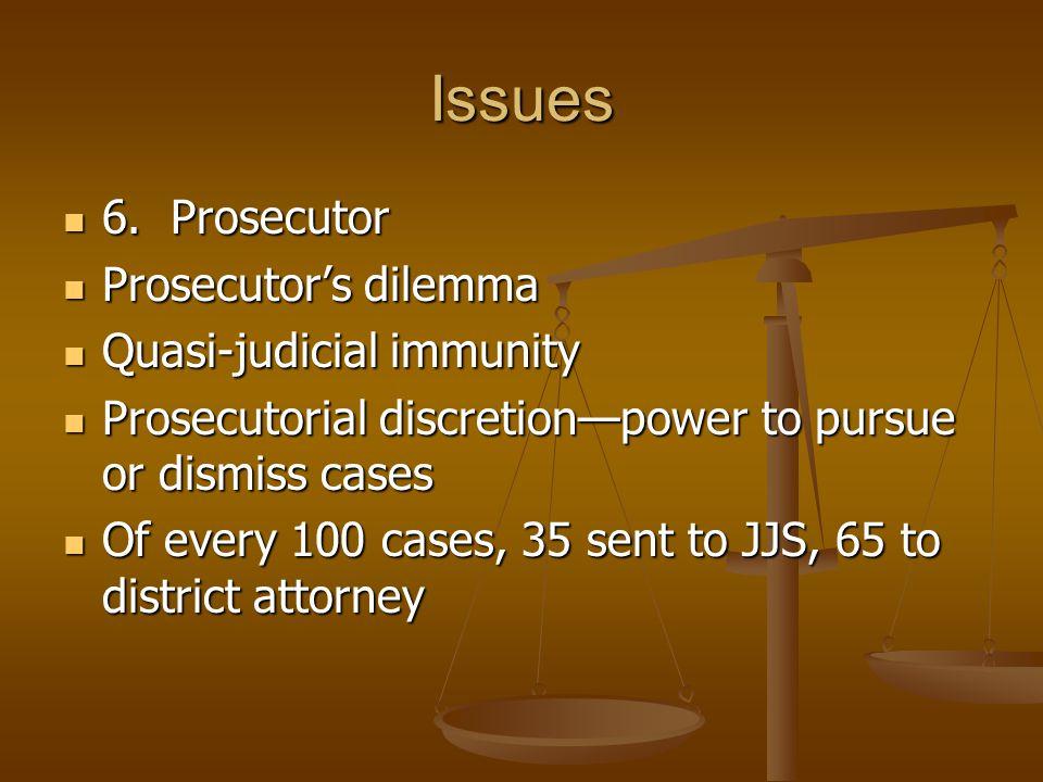 Issues 6. Prosecutor 6.
