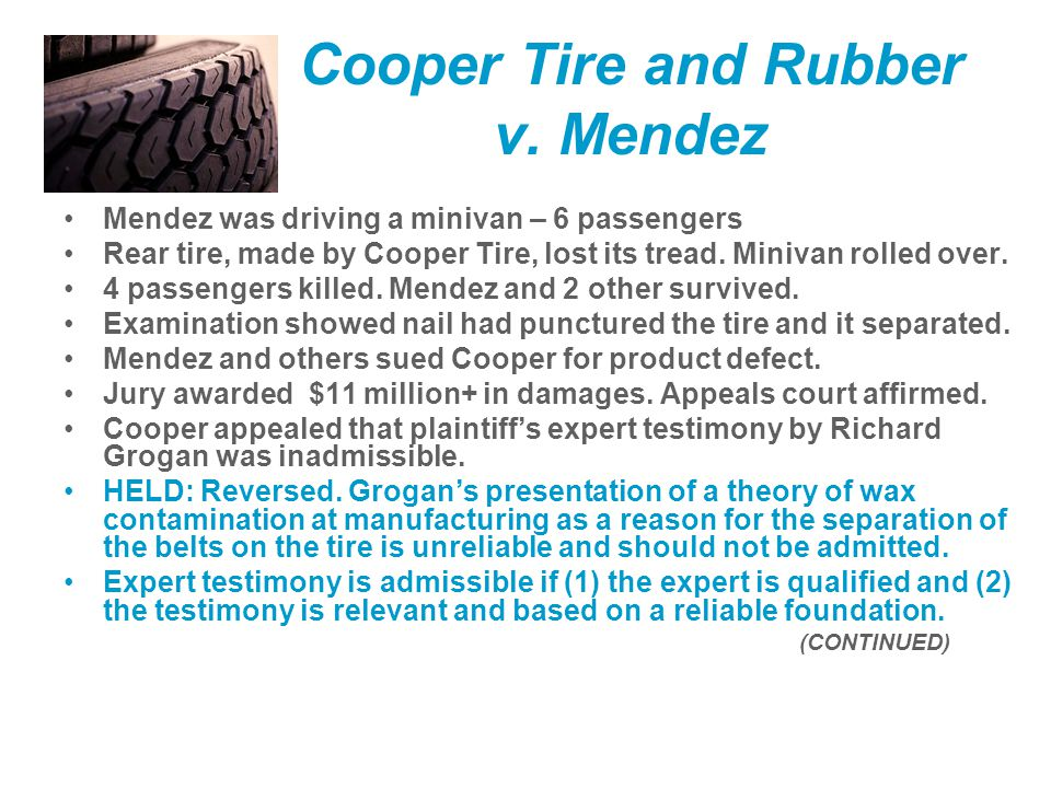 Cooper Tire and Rubber v.