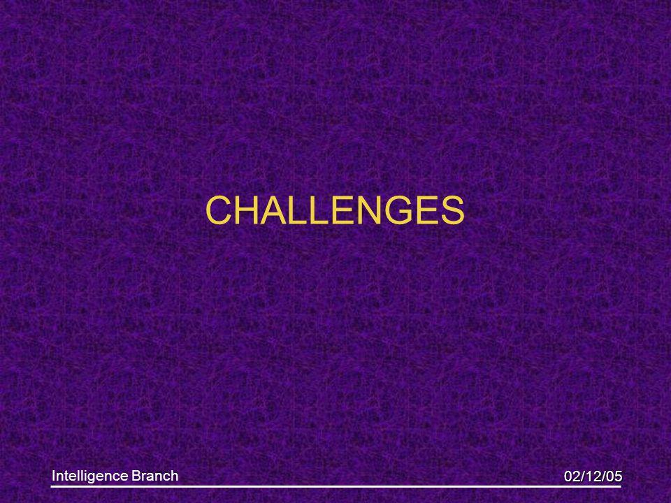 02/12/05 Intelligence Branch CHALLENGES
