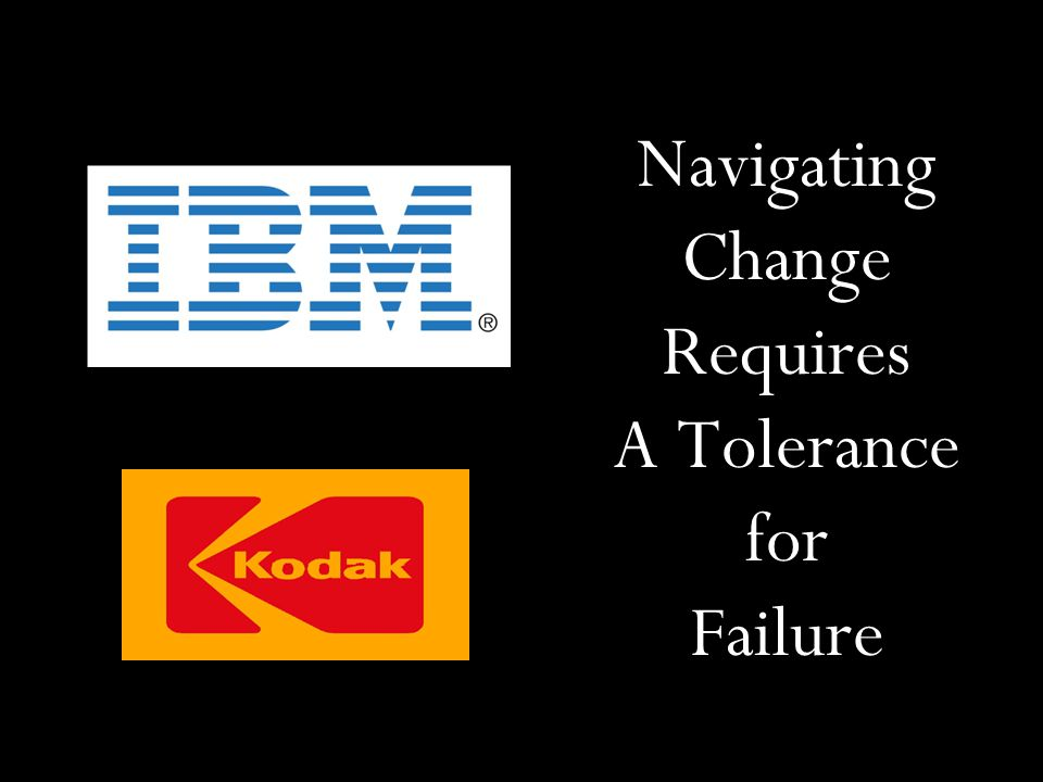Navigating Change Requires A Tolerance for Failure