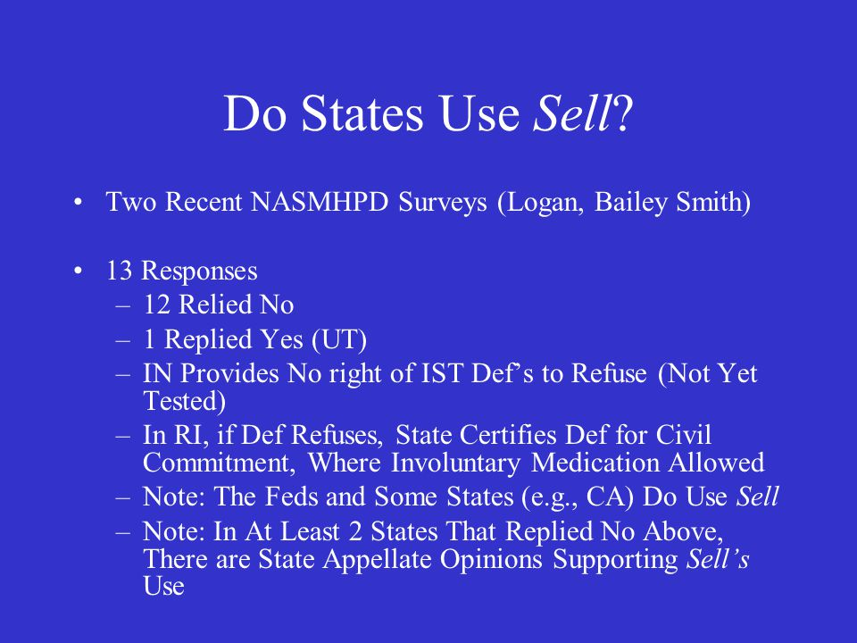 Do States Use Sell.