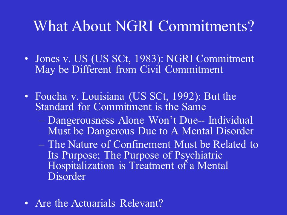 What About NGRI Commitments. Jones v.