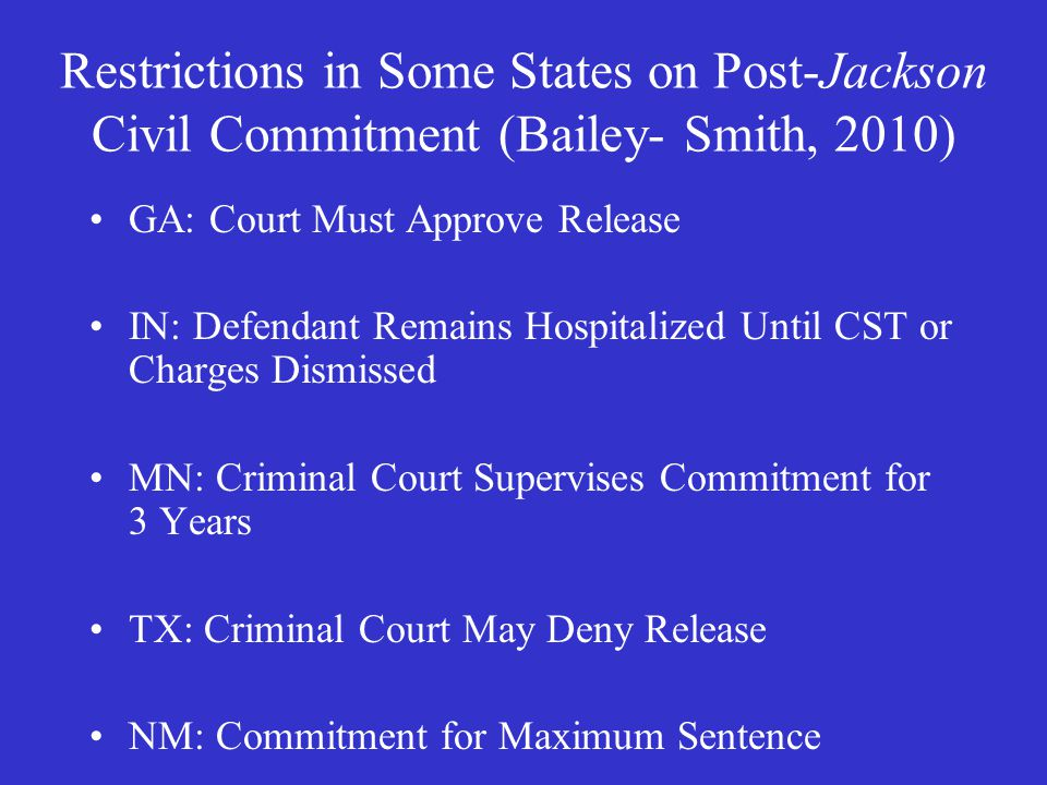 Standard for Comptency to Represent Self (or to Stand Trial without Counsel) Edwards Court declines to establish standard, though indicates incompetency must be due to severe mental illness – generalized difficulties as might make self representation difficult for ordinary defendants not enough Court rejects Indiana's suggestion: cannot communicate coherently with the judge or jury Trial judge's call, considering the circumstances and of the case and exercising sound discretion