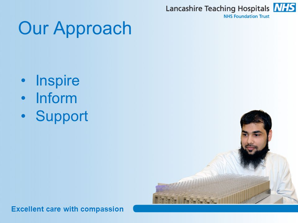 Excellent care with compassion Our Approach Inspire Inform Support