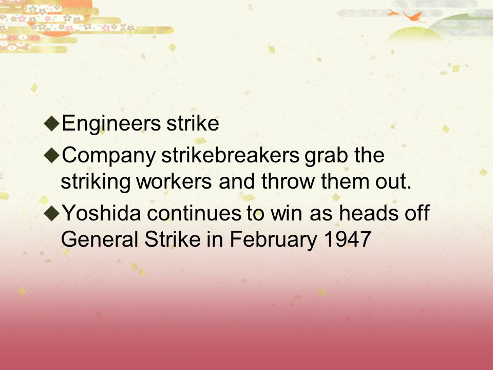  Engineers strike  Company strikebreakers grab the striking workers and throw them out.