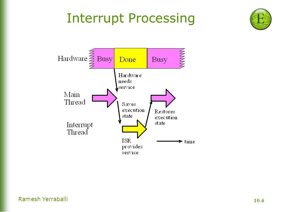 10-6 Ramesh Yerraballi Interrupt Processing