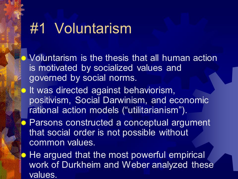 Rehabilitation of Durkheim  Durkheim's approach had been dismissed as a theory of group mind.  But the existence of institutionalized norms is not just a sense of groupness.  For example, a physician is constrained by law, by colleagues and by patient expectations.
