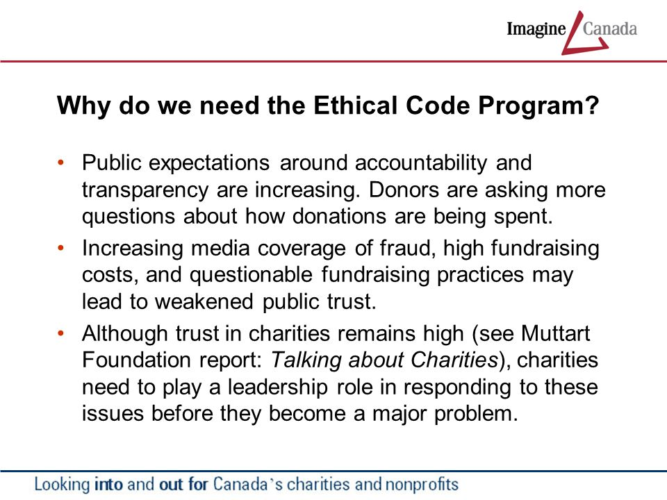 Why do we need the Ethical Code Program.