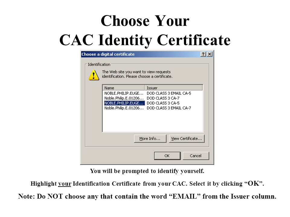 Installing the Certificate (Cont'd) Check both of the check boxes, enter your Password, and click Next .