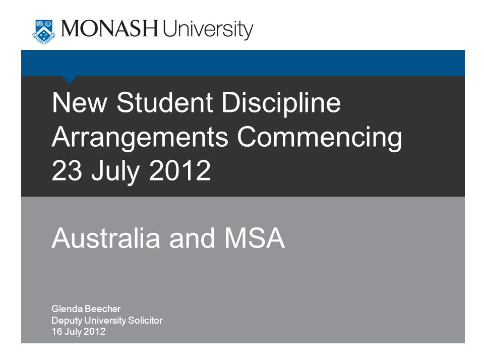 16 July 2012Discipline Guidelines22 The New Appeal Panels  A student must lodge appeal in writing, specifying the ground/s of appeal, within 20 working days of the notice of decision, with the person responsible for appeal.