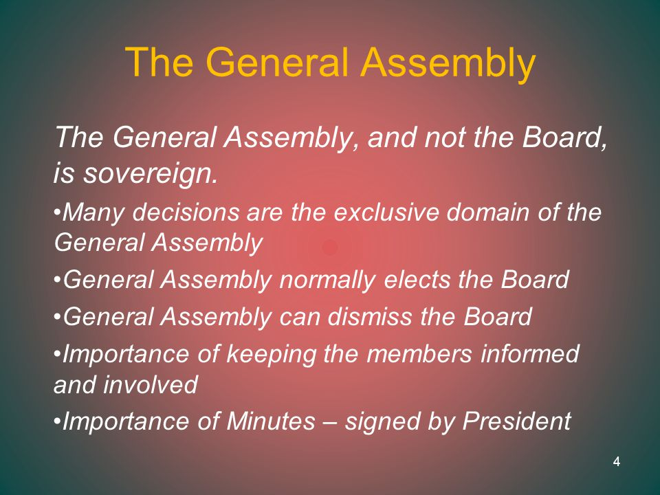 Ordinary Board members President, Vice-President, Treasury and Secretary Co-opted members 5 The Board