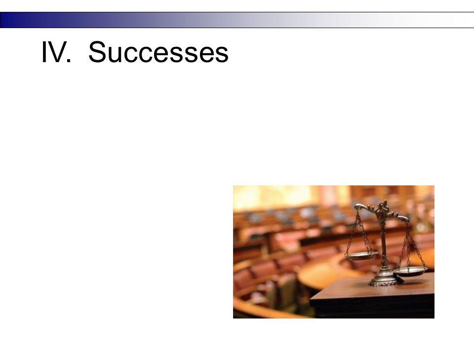IV.Successes