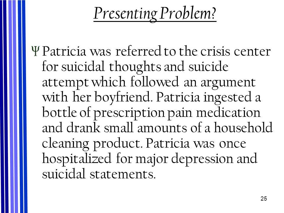 25 Presenting Problem.