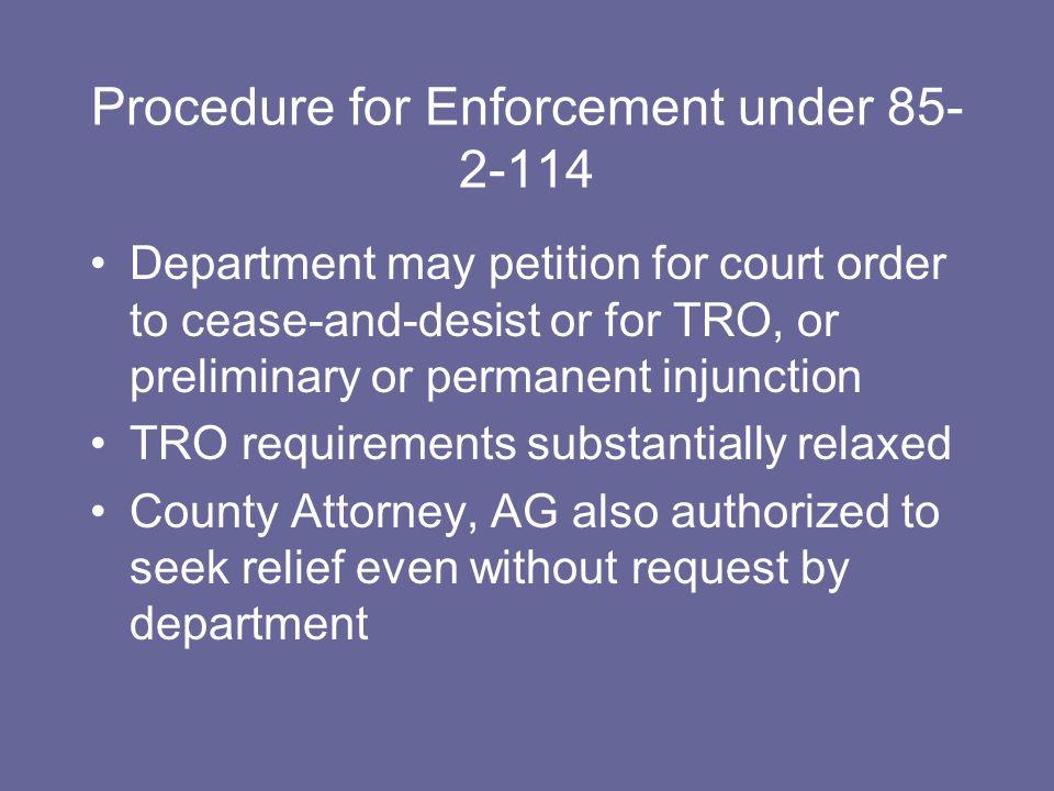 MCA § 85-2-114.