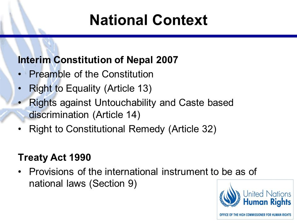 4 Caste based Discrimination and Untouchability (Offence and Punishment) Act 2011 Salient features: Specific legislation to deal untouchability and caste based discrimination (CBD) Preamble of the Act in line with the core value of Human Rights Criminalization of untouchability and CBD Broader definition of untouchability and CBD offence Extra-territorial jurisdiction Special criminal procedure (Summary Procedural Act) Punishment as per the gravity of the offence Provision regarding compensation